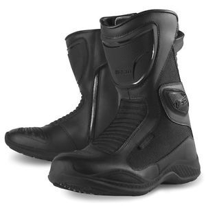 nuevo icono reinado negro de cuero impermeable nylon para mujer zapatos botas de motocicleta - Categoria: Avisos Clasificados Gratis  Estado del Producto: New with tagsIcon Women's Reign Waterproof BootsRain is a fact of life in Icon's hometown of Portland, Oregon The constant drip and drizzle is only broken by moments of biblical deluge But the ride must go on The Women's Reign boot was designed specifically to deal with a never ending wet season The fit is based upon proven women's foot…