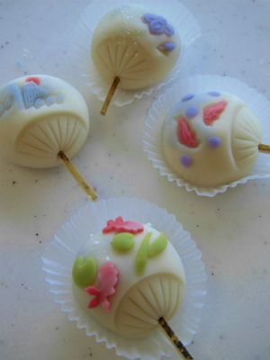 Summer Fan Wagashi (rice candy)