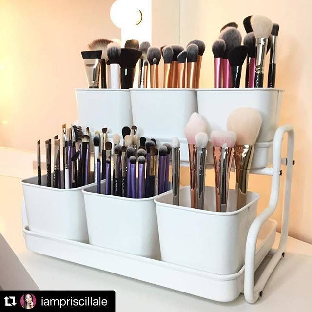Brushes Organizer From IKEA Is Called U0027Socker Pot With Holderu0027   Perfect  For Makeup Brushes, Painting U0026 Artwork Utensils Or Craft Room Organization