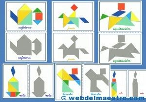 Tangram-Figuras para imprimir online