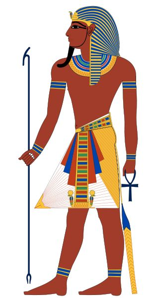 Pharaoh is a title used in many modern discussions of the rulers of all Ancient Egyptian dynasties. After Djoser of the third dynasty, kings usually were depicted wearing the Nemes headdress, a false beard, and an ornate kilt.