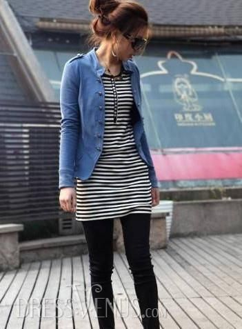 Simply Korean Style Double-breasted Coat Clothing