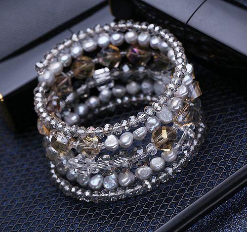 Fresh Water Irregular Pearl Wrap Bracelet