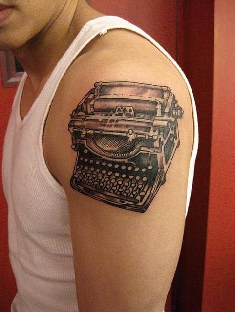 typewriter tattoo by Tattoo Culture, via Flickr