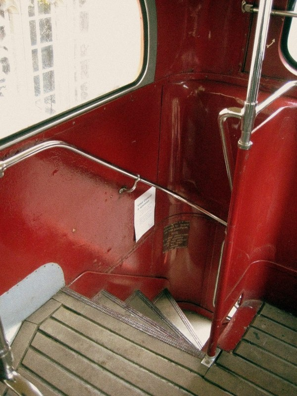 Routemaster stairs - only way to ride the bus sitting upstairs!