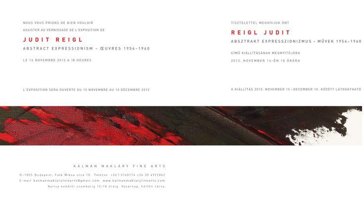 Judit Reigl exhibition, november 2013