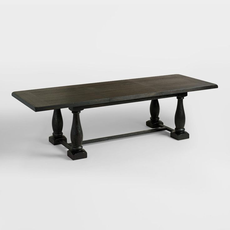 An Extra Large Version Of Our Bestselling Table Rectangular Black Greyson Extension Seats Up To Featuring Shapely Baluster Legs