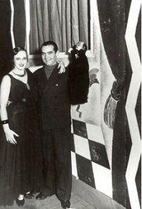 Elena Cortesina y Lorca en Buenos Aires, en 1934.
