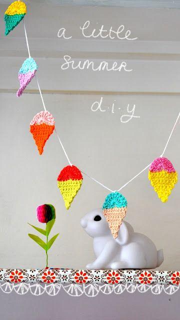 Summer Garland – Icecreams Everywhere #crochet