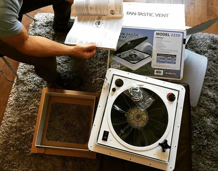 How To Install A Vent Fan In A Van