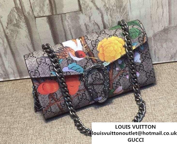 49252f97055 Gucci Dionysus GG Supreme Chain Shoulder Wallet 404141 Tian 2016 ...