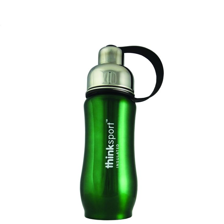 Thinksport 12 Ounce (350ml) Green Insulated Stainless Steel Bottle 12 oz/350ml. Double-walled and vacuum-sealed stainless steel - keeps contents hot or cold for hours . Removable mesh Filter - keeps ice from blocking the drinking spout and allows users to conveniently brew tea on the go. Unsurpassed testing for material safety - our products undergo rigorous chemical and biologic testing to insure they DO not contain toxic Chemicals. Perfect of hot or cold beverages - does not Sweat (for...