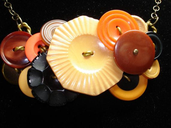 Best Button Necklaces Images On Pinterest Button Necklace - Bright diy layered button necklace