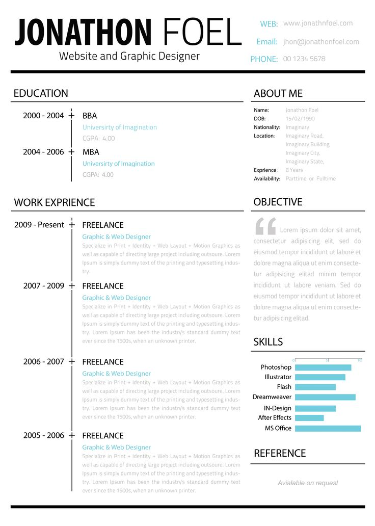 Best ResumeCv Designs Images On   Cv Design Glass