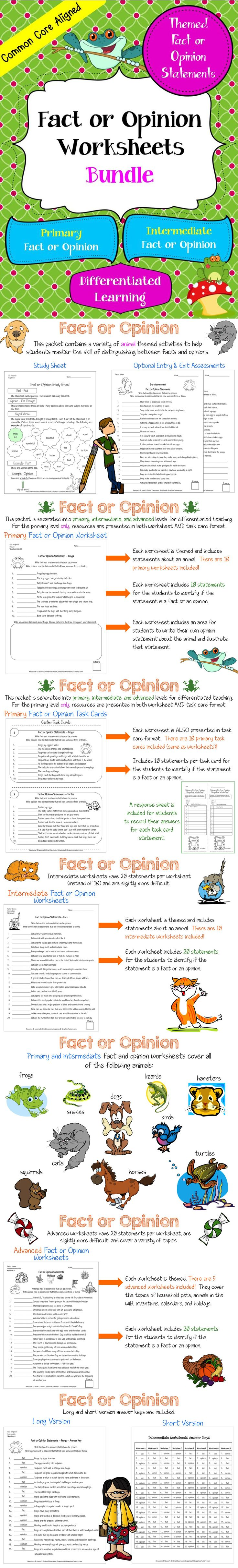 worksheet Fact Opinion Bias Worksheet 195 best fact vs opinion images on pinterest teaching ideas and task cards worksheets