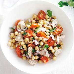 Snel recept: kikkererwten/tonijn salade