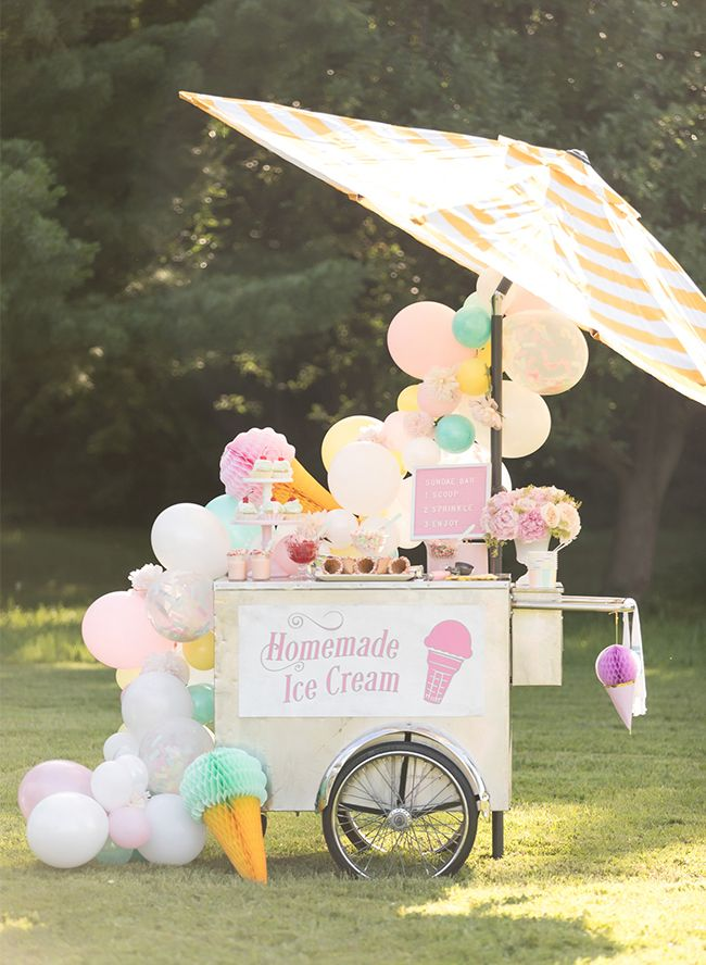 Nothing says summer like apastel ice cream party for the kiddos. Tara at One Stylish Party knocked it out of the park with this one! She used fun vintage-esque ice cream decor!