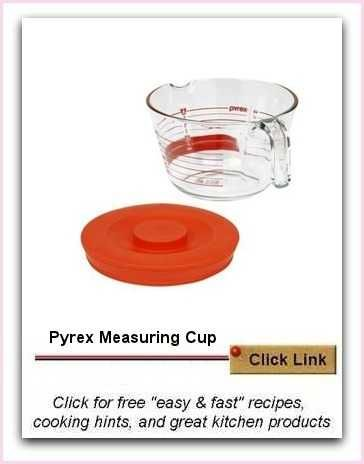 Pyrex Measuring Cup | OK For Preheated Oven | Ideal for Easy Recipes. What I like about this, is that it is so roomy you can whip cream or puree soup safely in the glass jug.