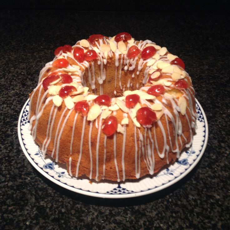 A beautiful Cherry cake, made from a Mary Berry recipe. My husband loves this cake.