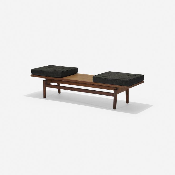 bench, model T621 Jens Risom Design, Inc. USA, 1955 walnut, upholstery 183 x 53 x 48 cm