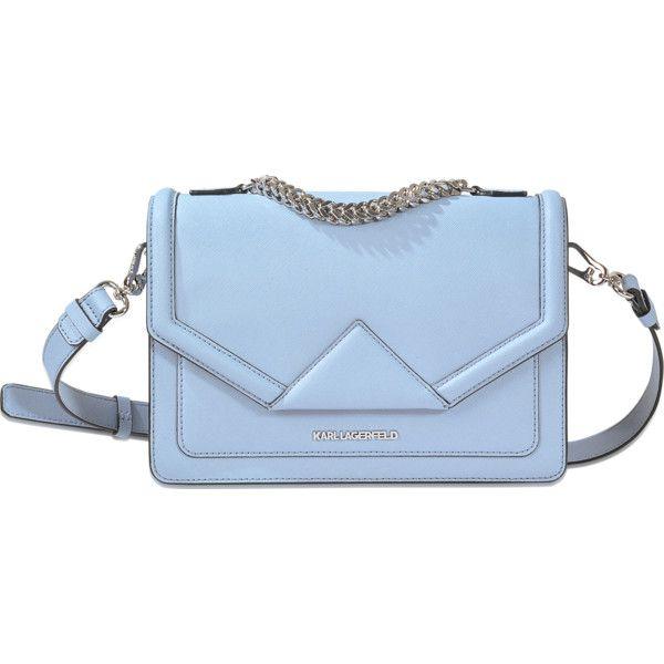Karl Lagerfeld K Klassic Shoulder Bag (17.575 RUB) ❤ liked on Polyvore featuring bags, handbags, shoulder bags, blue, blue shoulder handbags, shoulder bag purse, blue handbags, shoulder bag handbag and karl lagerfeld purse