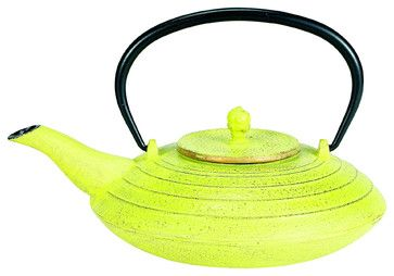 Celery and Gold Cast Iron Serendipity Teapot - asian - coffee makers and tea kettles - Old Dutch International
