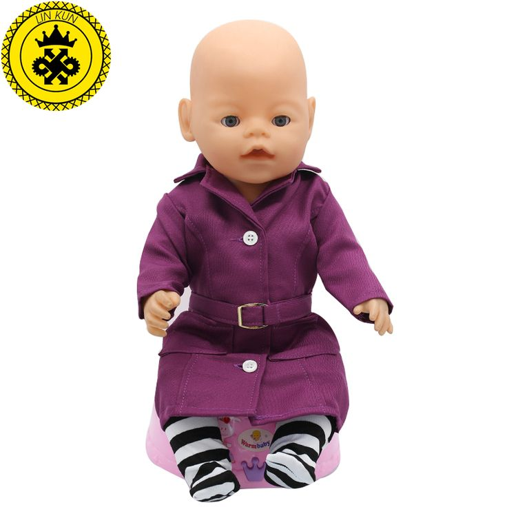Zapf Baby Born Doll Clothes Deep Purple Coat + Socks Sets fit 43cm Zapf Doll Baby Born Doll Accessories Charms Style 121