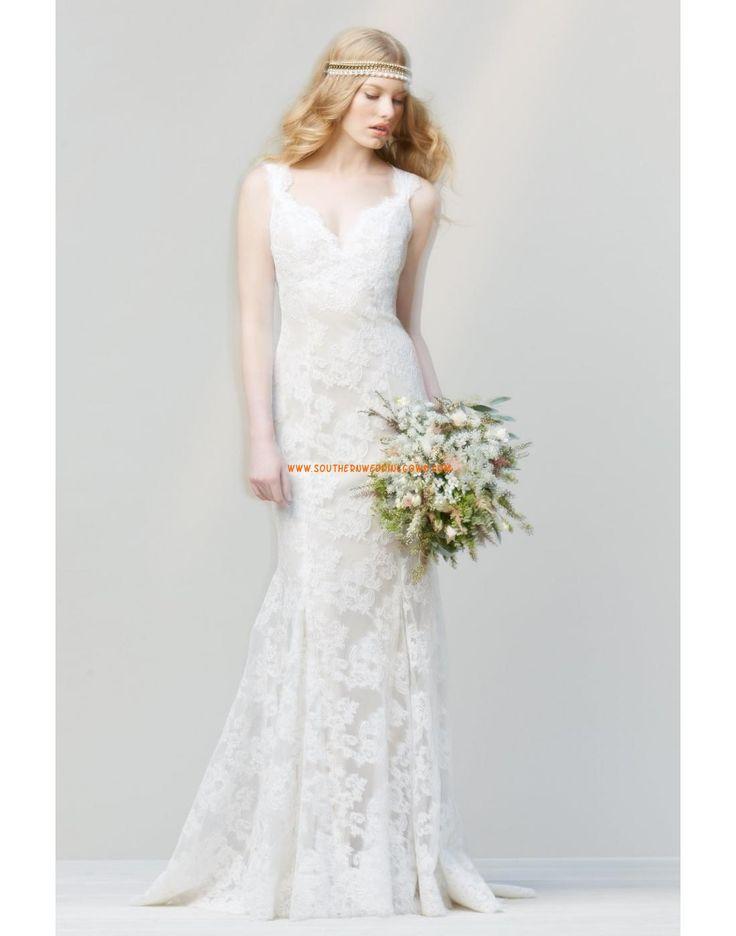 Sheath Ärmlös Naturlig Bröllopsklänningar Södermanlands