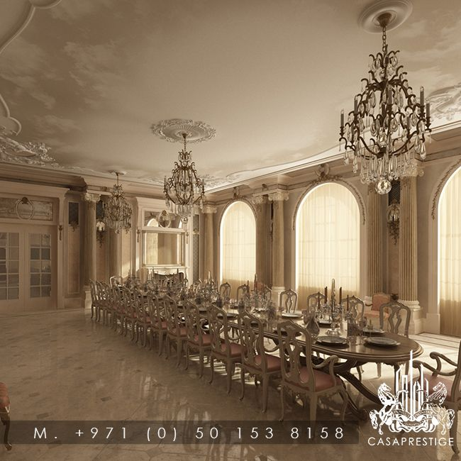 Luxury Palace Dining Design By CASAPRESTIGE Casaprestigeae