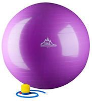 Black Mountain Products Exercise Stability Ball with Pump Purple 65cm-65 cm 1 Each