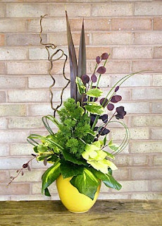ikebana. tropical flowers.