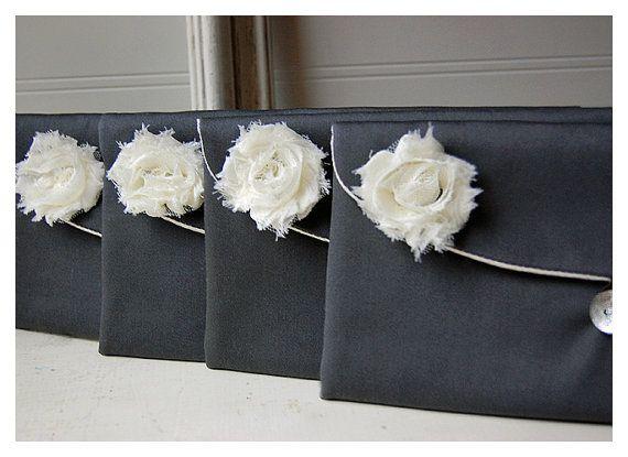 grey satin clutch bridesmaid gift clutch satin purse by hoganfe