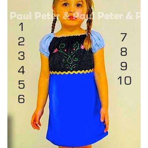 big pipo-58207b Dress Frozen Fever Anna Kaos Katun