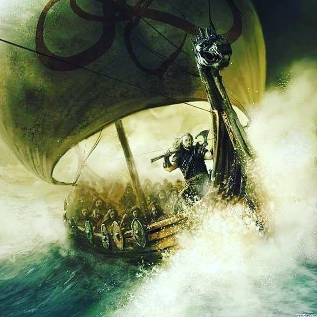 El Marino Poema Vikingo Puedo Cantar Mi Propia Historia Hablar De Mis Viajes Y Como A Menudo He Sufrido Tiempos De Dura Navegación Lobo Bosque Exeter Barcos