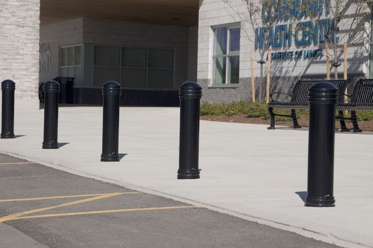 Maglin's MTB650 bollards look great at the North Dumfries Health Centre in Ontario.