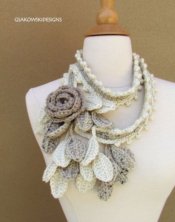 Crocheted scarf necklace!