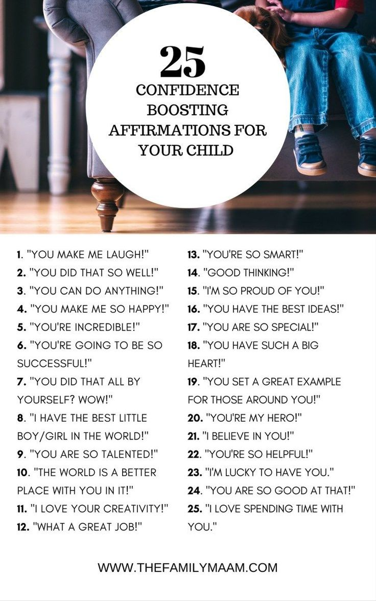 Positive Parenting: Confidence boosting affirmations for your kids.