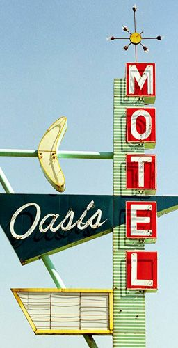 Oasis Motel, Tulsa, Oklahoma.Just 3 blocks from my home in Tulsa. the Banana Oasis