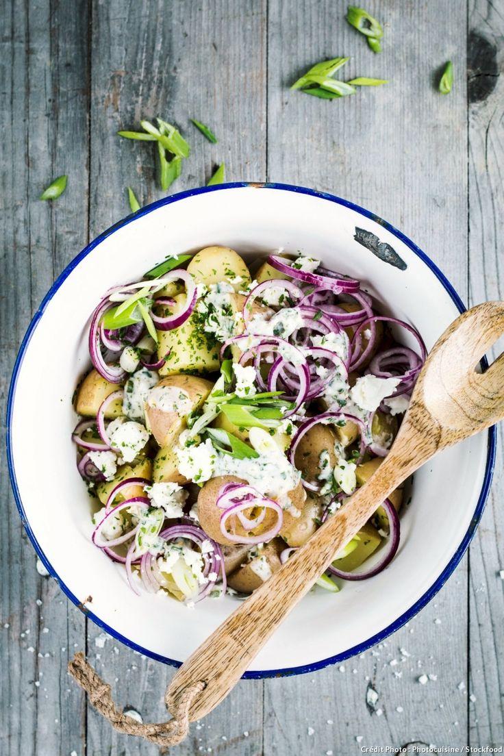 Salade de pommes de terre aux oignons et à la ciboule - Une salade de printemps, fraîche et gourmande !