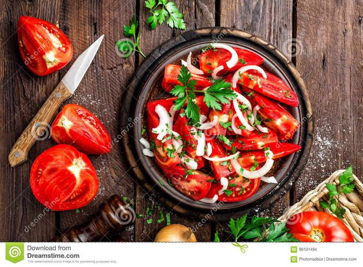 Tomato Salad - Download From Over 62 Million High Quality Stock Photos, Images, Vectors. Sign up for FREE today. Image: 96101494
