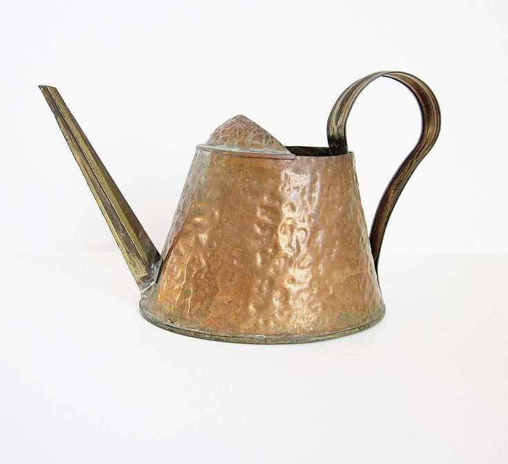 Excited to share the latest addition to my #etsy shop: Hammered Metal Watering Can Solid Brass & Copper By Artistic MFG CO Des Moines Iowa Antique Vintage Rustic Gardening Tool Made In USA http://etsy.me/2D2lzsO #madeinusa #gardendecor #copper #wateringcan