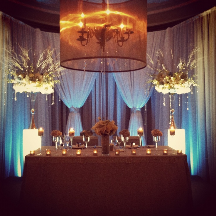 Head Table...could Do Tealights Like This And A Lantern In