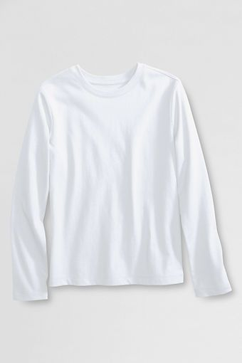 d0adf2b1a2235 Try our School Uniform Long Sleeve Fem Fit Essential Tee at Lands  End.