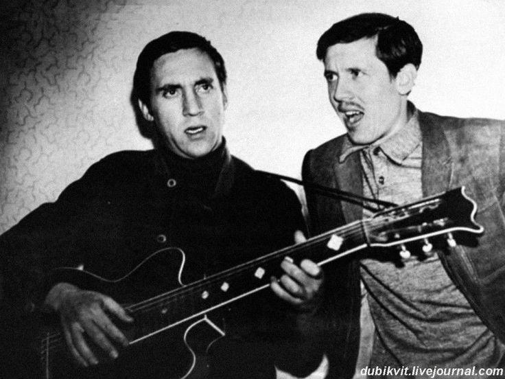 Владимир Высоцкий и Валерий Золотухин в Москве. Фото И.Чернова, 1973 год.