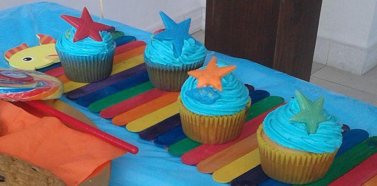 cupcakes de animalitos del mar