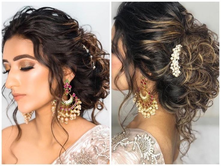 Hairstyles For Indian Wedding Receptions Bun Wedding Reception Hairstyles Hair Styles Indian Hairstyles