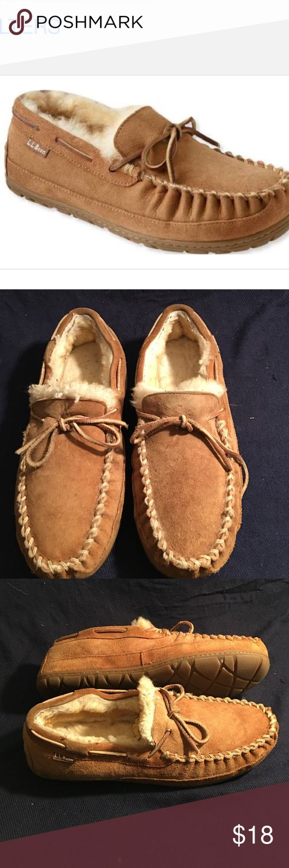 LL BEAN MENS MOCCASINS SHEEPSKIN L/new SIZE 10M LL BEAN SHEEPSKIN MOCCASINS IN NEW CONDITION. THEY STILL HAVE THE PAPER  INSERTS  SIZE 10 M LL BEAN Shoes Loafers & Slip-Ons