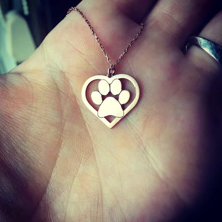 Heart paw necklace whose heart beats for animals