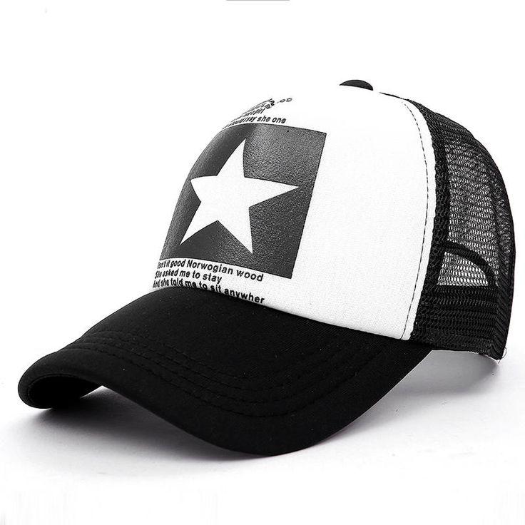 VORON zomer Nieuwe vijfpuntige Grote Ster Patroon Mesh Baseball cap mannen hoed Polo cap Gorras hiphop hoeden snapback