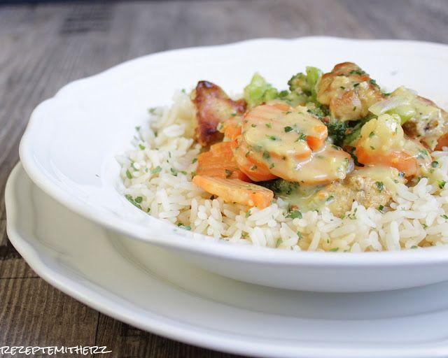 Rezepte mit Herz: Hähnchentopf mit Gemüse & Reis ♡
